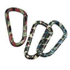 Tactical Military Camping Hiking Spring Snap Clip Carabiner Keychain Buckle Camo
