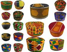 Black History Month Cap Kufi Traditional African Kente Hat 53 55 57 59 60 62 cm