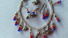 Aussie Rules Aust Football fans Crows Adelaide navy, red & gold,crow jewelry