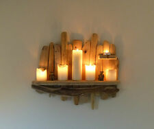 Lovely Shabby Chic, Rustic, Unique Driftwood Shelf, Shelves, Candle Holder