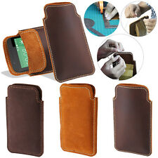 For HTC Desire 510 Desire 512 Handmade Genuine Leather Pouch Pocket Case Cover