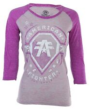 American Fighter AFFLICTION Women T-Shirt MERRIMACK PATTERN Biker UFC Sinful $40