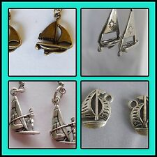 Sailing, boats, boat charms active sport wind surfing water sea sports earrings