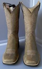 ARIAT 10019906 BROWN BOMBER ROUND UP REMUDA COWGIRL BOOTS - SQUARE TOE