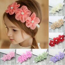 Hot New Kids Baby Girls Rose Flower Leaf Headband Hair Band Headwear Accessories