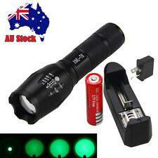 5000Lumen Zoomable Green 5-Modes LED Flashlight Focus Torch Lamp 18650 Light