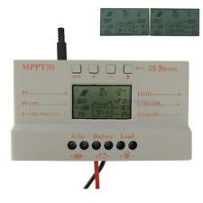 New LCD 10/20/30A MPPT Solar Battery Regulator Charge Controller 12/24V Time AD