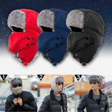 New Trapper Bomber Warm Russian Trooper Fur Earflap Winter Ski Hat Men Women Cap