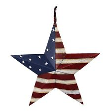 Metal Rustic Patriotic American Flag Barn 3D Star Memorial Day July 4th Decor
