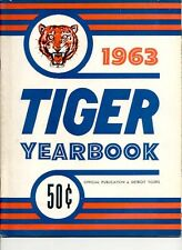 DETROIT TIGERS TEAM YEARBOOK 1963 EX