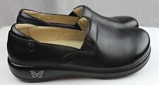 Alegria Keli Black Napa Leather Nurse/Doctor/Chef Shoes Clogs Foam Orthodics