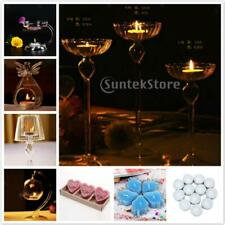 Various Glass Tea Light Candle Holder Candlestick+Candles Dinner Table Decor