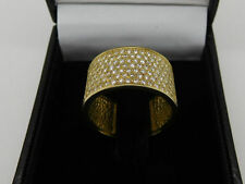 14K Yellow Gold Ring 1.28 CT Natural Diamond F VS Round Wedding Band Size 8