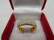 14K Yellow Gold Ring 1.3 CT Natural Diamond F VS Round Wedding Band Size 7