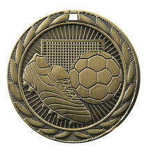 SOCCER FUTBOL MEDALS GOLD SILVER BRONZE W NECK RIBBON IRON SERIES MEDAL