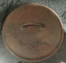 Griswold Dutch Oven Lid ~ Number 9 ~ Part Number 2532 ~ Patented 1920