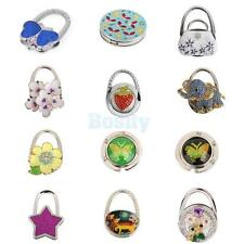Various Pattern Rhinestone Folding Bag Purse Handbag Hook Hanger Table Holder
