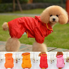 Pet Dog Hoodie Rain Coat Puppy Waterproof Hooded Jacket Costumes Clothes S-XL