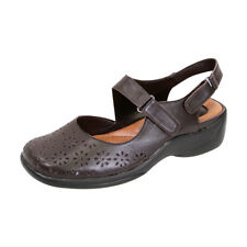 FIC PEERAGE Kylie Women Wide Width Leather Comfort Sandal for Everyday