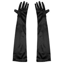 Women Long Satin Gloves Opera Costume Bridal Party Prom Wedding Womens Glove