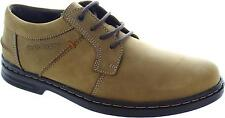 Hush Puppies Barnet Men's Taupe Beige Nubuck Leather Lace Up Casual Shoes New