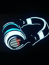 EQ Headphones Sound Activated LIGHTS UP LED T-Shirt ALL SIZES Wireless