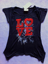 Funky Babe - Girls - LOVE - Top -  Tshirt  - Size 10
