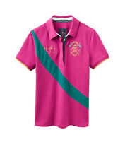 *SALE* Joules Mary King Ladies Polo Shirt - Dark Pink - Size 10 - RRP £44.95