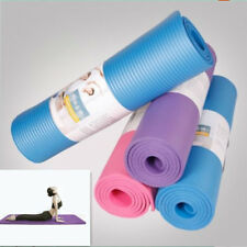 "Purple/ Pink/ Blue Non-Slip Yoga Mat Exercise Fitness 68""x24""x0.3"" (8mm Thick)"