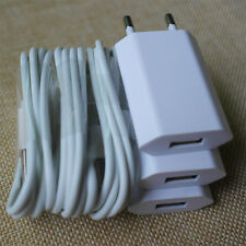 3x EU/US Wall Charger + 3x 30 Pin to USB Data Cable for iPhone 4 4S 3GS