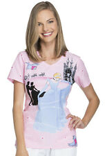 Scrubs Cherokee Print Top Before Midnight TF626 PRID FREE SHIPPING!