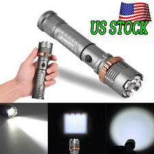 Outdooors SuperBright LED Zoomable Flashlight Torch Lamp+18650 Battery+Charger