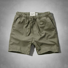 NWT ABERCROMBIE & FITCH MEN'S Jogger Shorts OLIVE 128-283-0549-034 Size XS / L