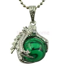 Chinese Dragon Claw Wrap Ball Bead Charm Gemstone Natural Stone Pendant Necklace