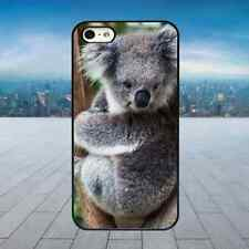 CUTE FLUFFY KOALA BEAR Black Hard Phone Case Cover Fits Iphone Models