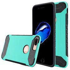 For Apple iPhone7 Plus Case, Hybrid Dual Layer Cover [Stylus + Screen Protector]