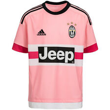ADIDAS Boys Juventus FC Youth Away Soccer / Football Player Jersey NWT Jeep Logo