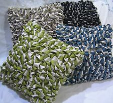 Two Tone Looped Cushion Cover - Blue, Ivory, Black, Green