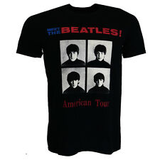 The Beatles American Tour 1964 T-shirt Black Official Licensed Music