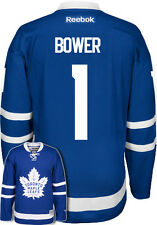 Johnny Bower New Toronto Maple Leafs NHL Home Reebok Premier Hockey Jersey