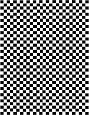 1:18 1:24 HO SCALE Checkerboard decals sheet 1/4th Inch Squares 50