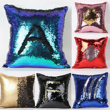 Double Color Glitter Sequins Throw Pillow Case Cafe Home Bed Decor Cushion Cover
