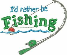 Fishing Embroidered & Personalised Polo Shirt