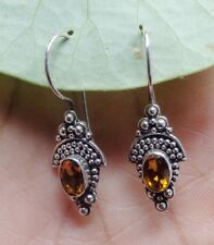 Gemstone Sterling Silver, 925 Balinese Traditional Design Earring 39002