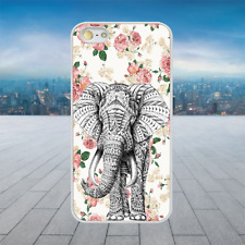 Floral Aztec Elephant White Rubber Phone Case Cover Fits Iphone Models