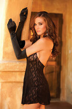 NEW Womens Intimates Sexy Satin Gloves Lingerie Red Black White One Size