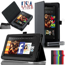 "Filp PU Leather Case Cover Stand for New Amazon Kindle Fire HD 7"" Tablet USPS"