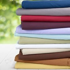 "800-Thread-Count 1PC Super Soft Fitted Sheet Solid 100% Cotton 20"" Deep Pocket"