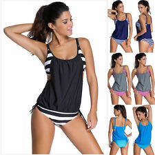 Womens Tankini Bikini Beach Swimming Summer Swimsuit Bathing Suit Swimwear 6-18