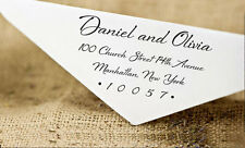 Unmounted Wedding Invitation Address Stamp Wood Mounted Custom Personalize Stamp